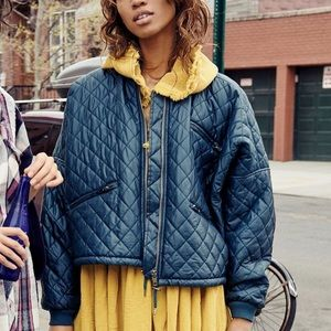 Free People Jackets & Coats - Free People Easy Quilted Bomber Jacket